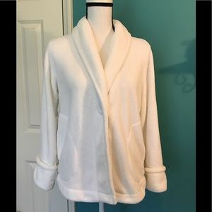 🇦🇷Charter Club white soft cardigan w/pockets  M